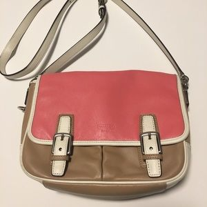 Authentic pink and tan Coach Purse